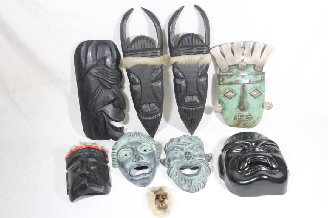 9 Assorted Masks