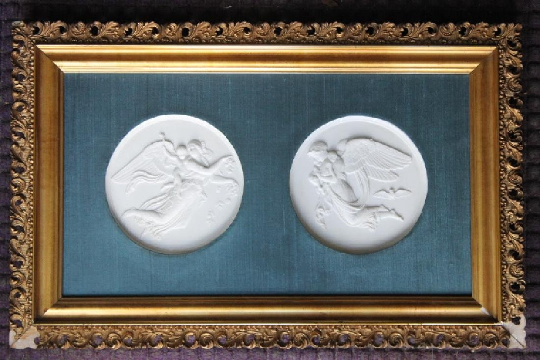Two Bing & Grondahl Angel Plaques