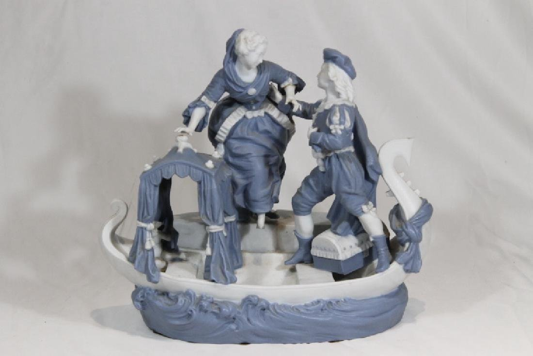 Blue & White Porcelain Boat
