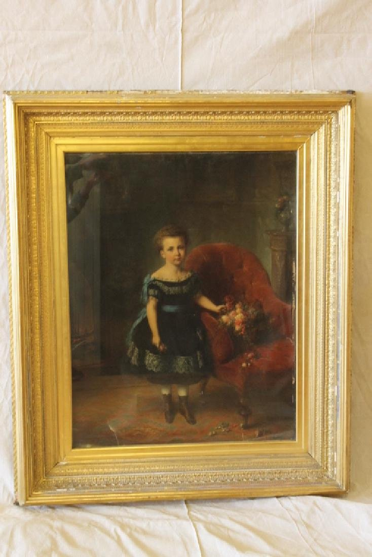 Large Gilt Framed Chromolithograph