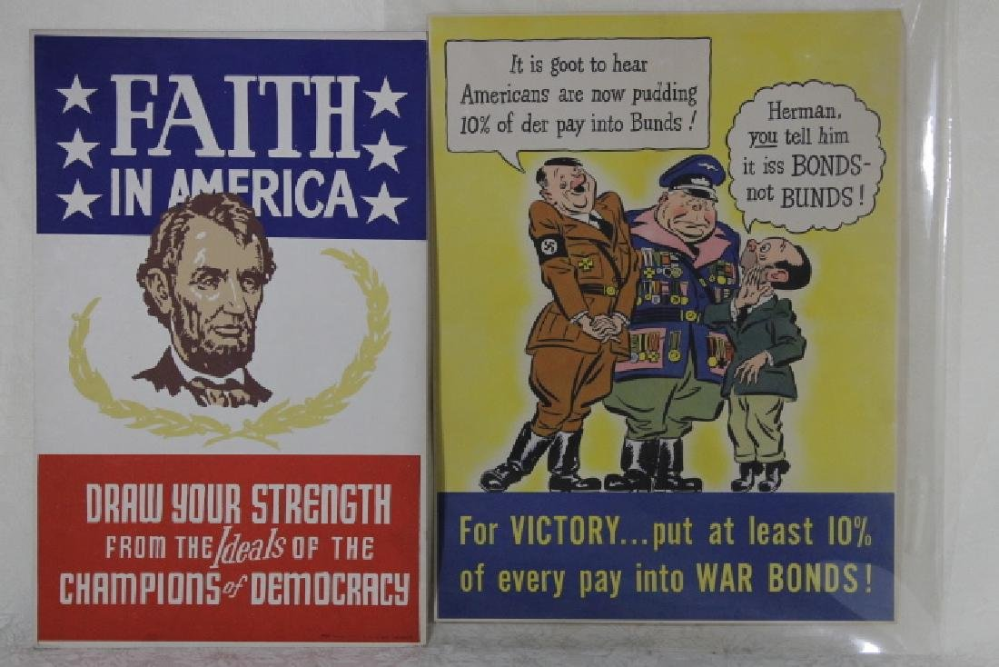 Two World War II War Posters