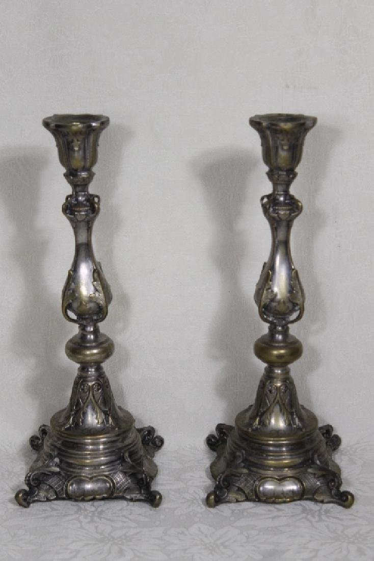 Polish Silver Plated Candlesticks