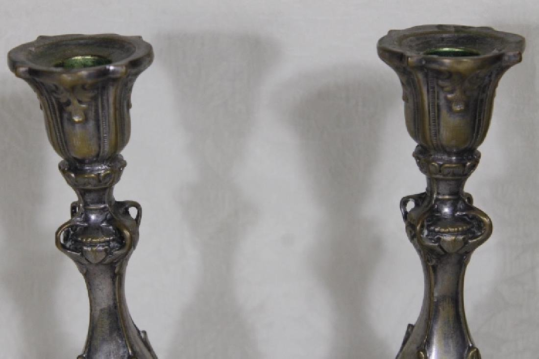 Polish Silver Plated Candlesticks - 3