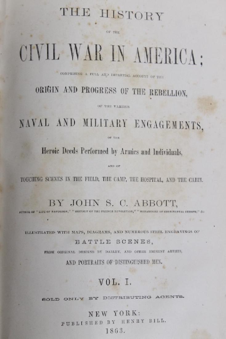 """""""History of the Civil War"""" Vol I & II - 4"""