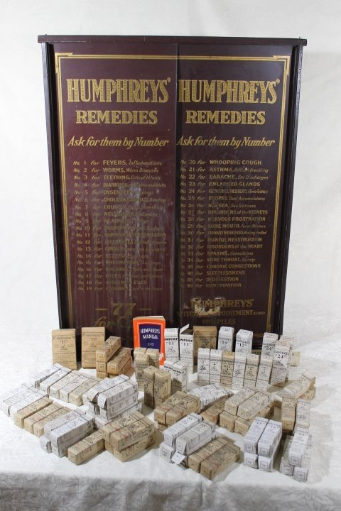 Humphreys Country  Store Remedy Cabinet w/Remedies