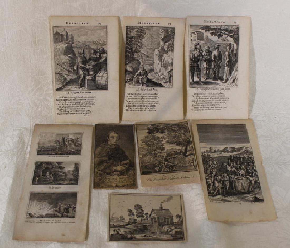 8 Pcs Bookplates 18th Century