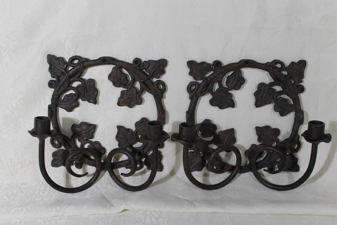 Pr. of Solid Iron Wall Sconces