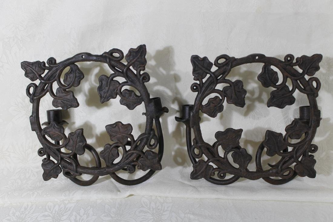Pr. of Solid Iron Wall Sconces - 2