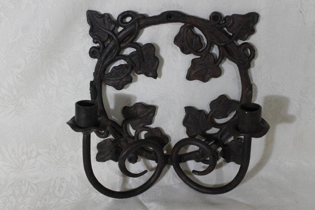 Pr. of Solid Iron Wall Sconces - 3