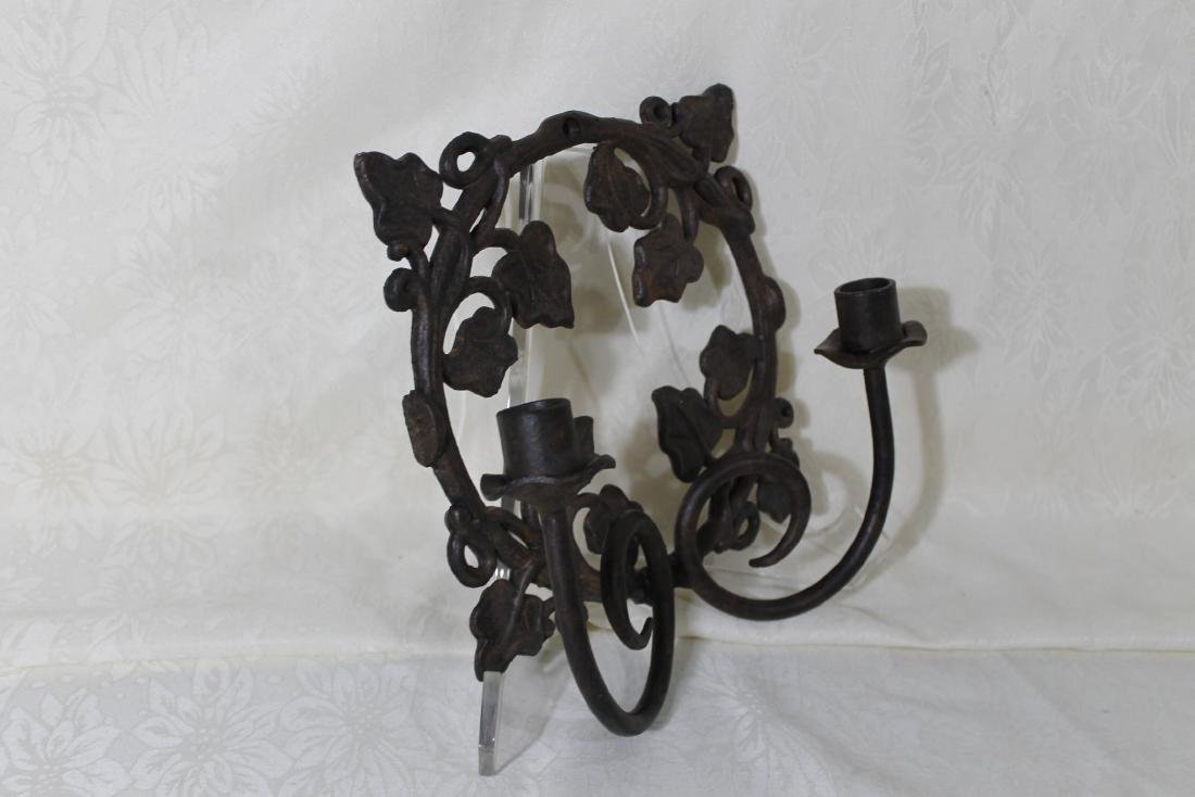 Pr. of Solid Iron Wall Sconces - 4
