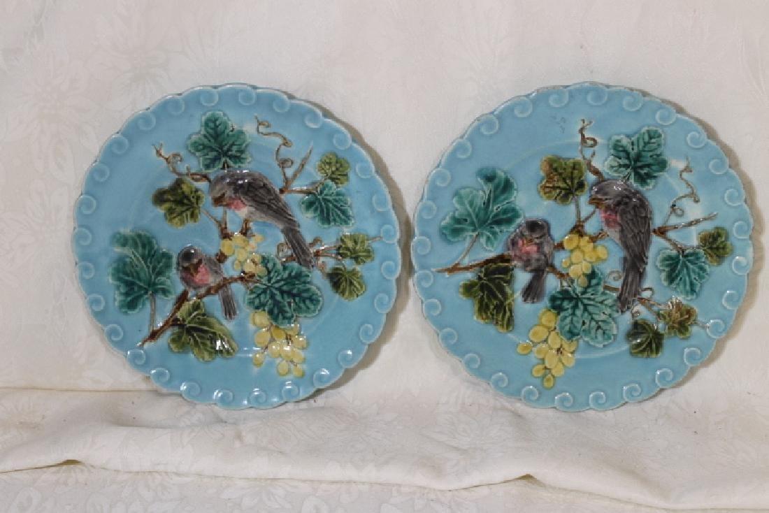 Two Sarreguemines Majolica Plates