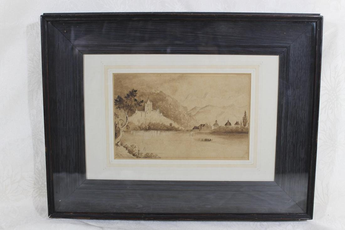 European Watercolor, Shadowbox Frame