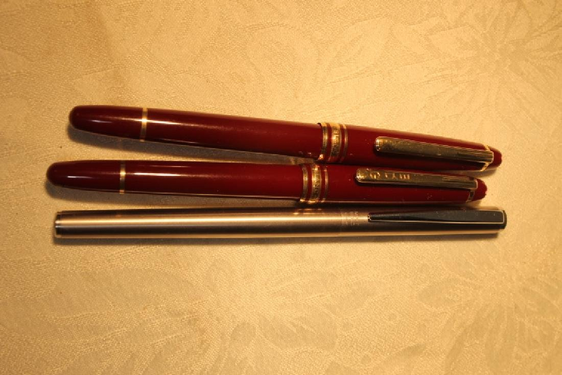 Three Mont Blanc Pens