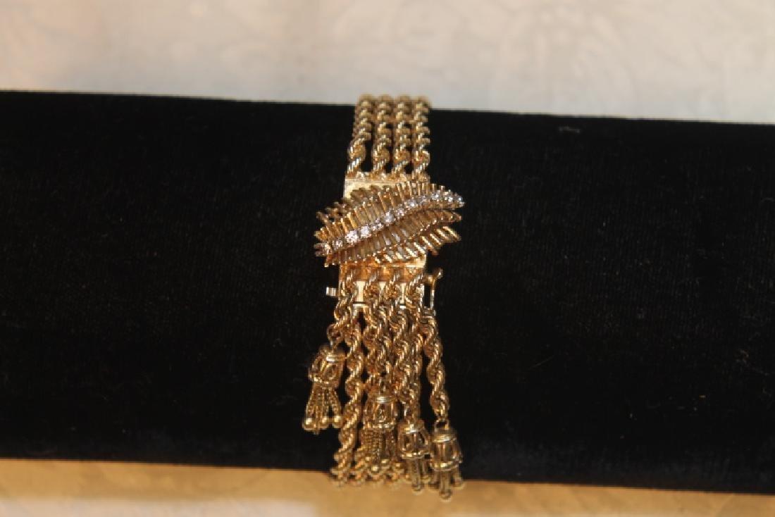 14kt Gold Geneva Ladies Watch