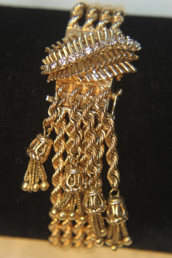 14kt Gold Geneva Ladies Watch - 2