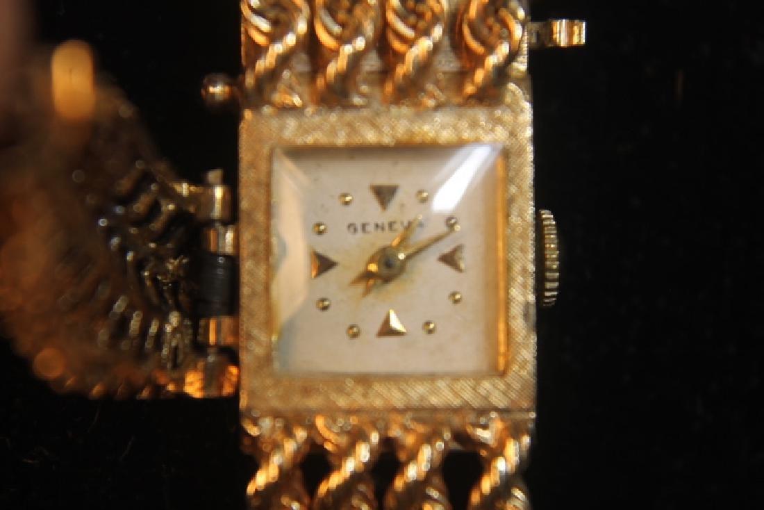 14kt Gold Geneva Ladies Watch - 3