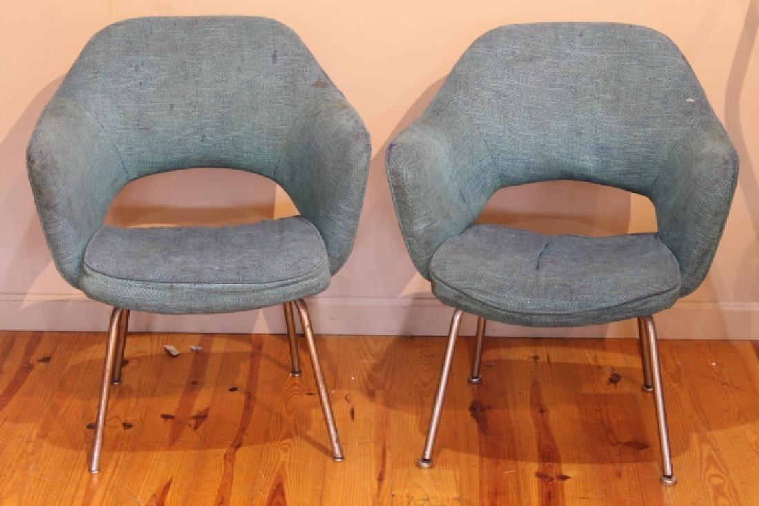 Pr. of Mid Century Arm Chairs