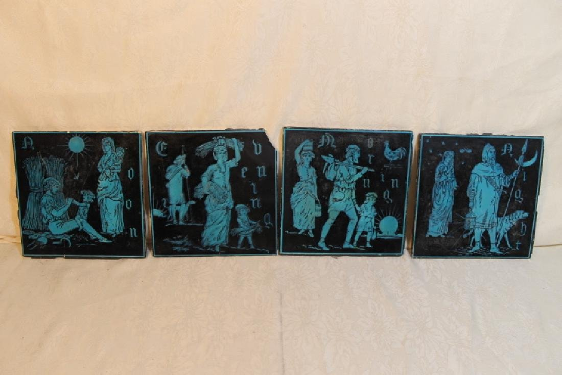 Four Minton Tiles - 2