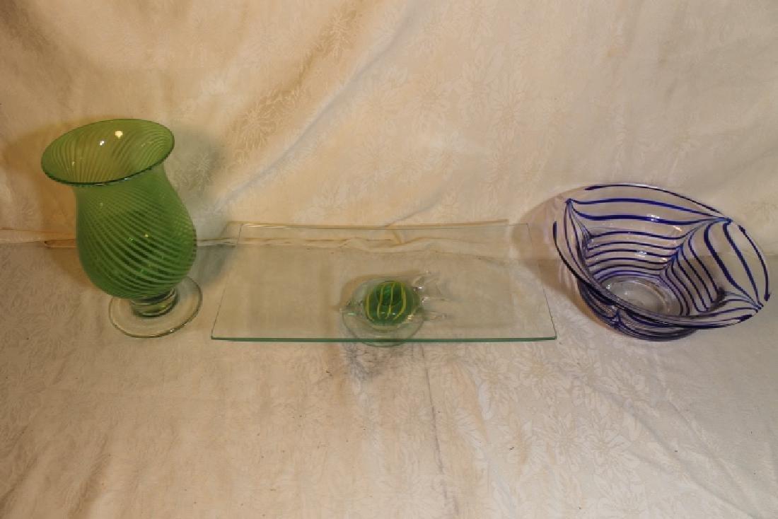 Three Mid Modern Glass Items