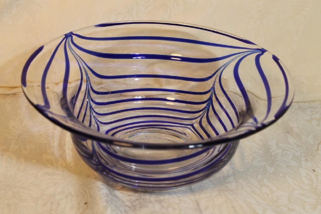 Three Mid Modern Glass Items - 3