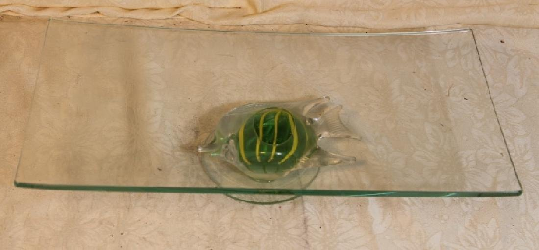 Three Mid Modern Glass Items - 4