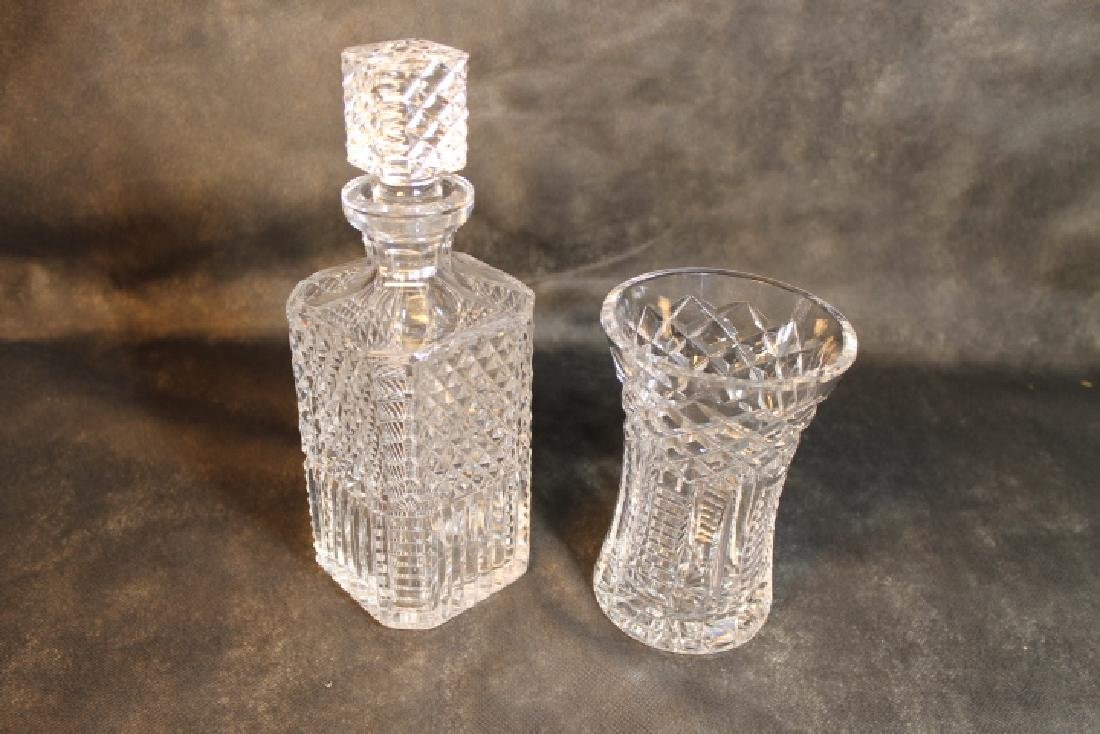 Waterford Decanter, & Vase