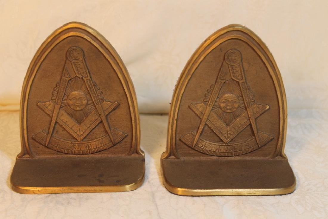 Masonic Bookends