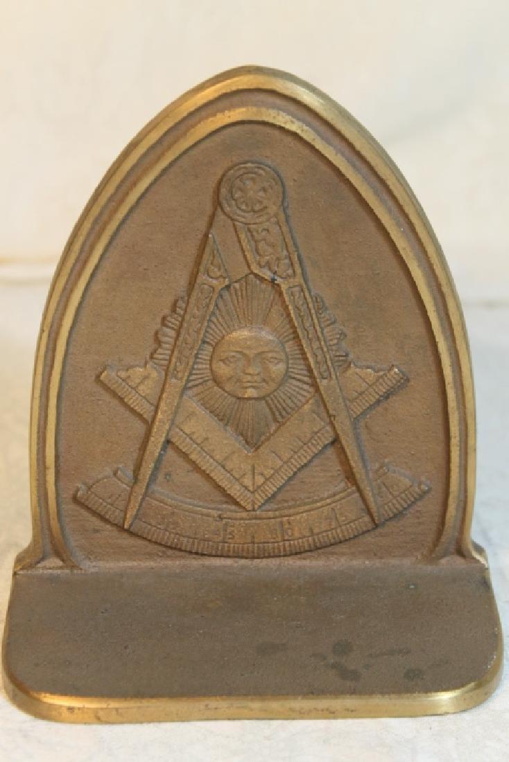 Masonic Bookends - 2