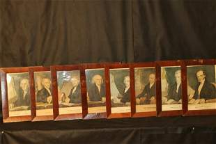 Eight Currier & Ives Presidents