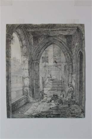J.S. Cotman Pencil Sketch [British 1782-1842]
