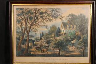 Original Currier & Ives Print
