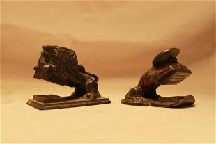 Two Figural Bronze Stamps