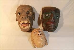 3 Carved Masks