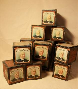Fifteen Charles Denby Cigar Boxes