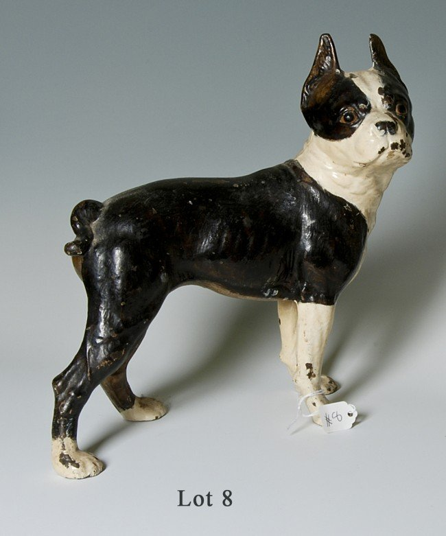 8: Bull Dog door stop, late 19th early 20th cent., Iron