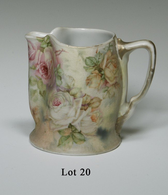 "20: Royal Bayreuth Bavarian Tapestry Pitcher, 3.5"" tall"