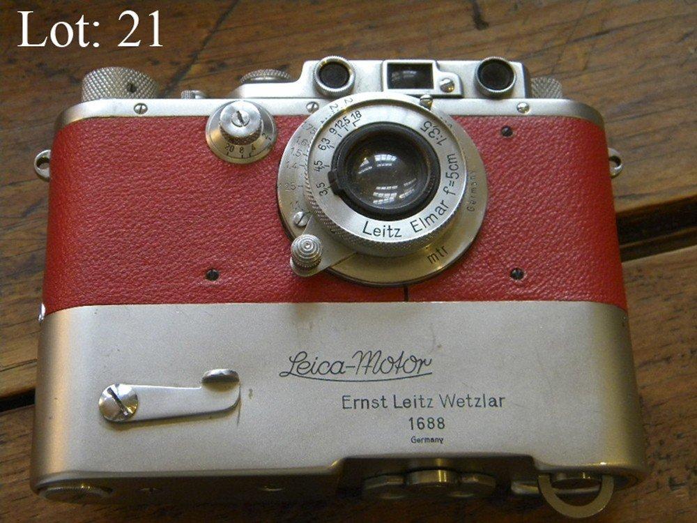 21: Leica IIIa in Red, 1937, Unique
