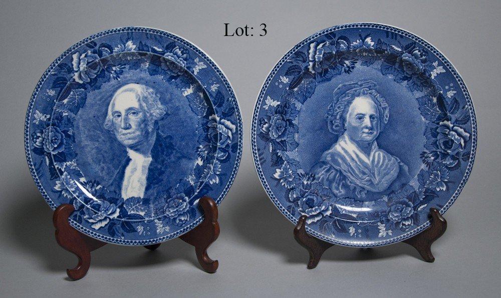 3: Blue & White Wedgwood plates