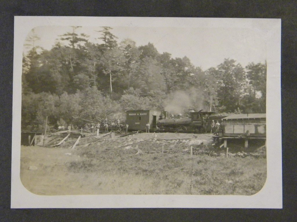 13: Lot of early train photos& 2 large cabinet cards 2  - 2