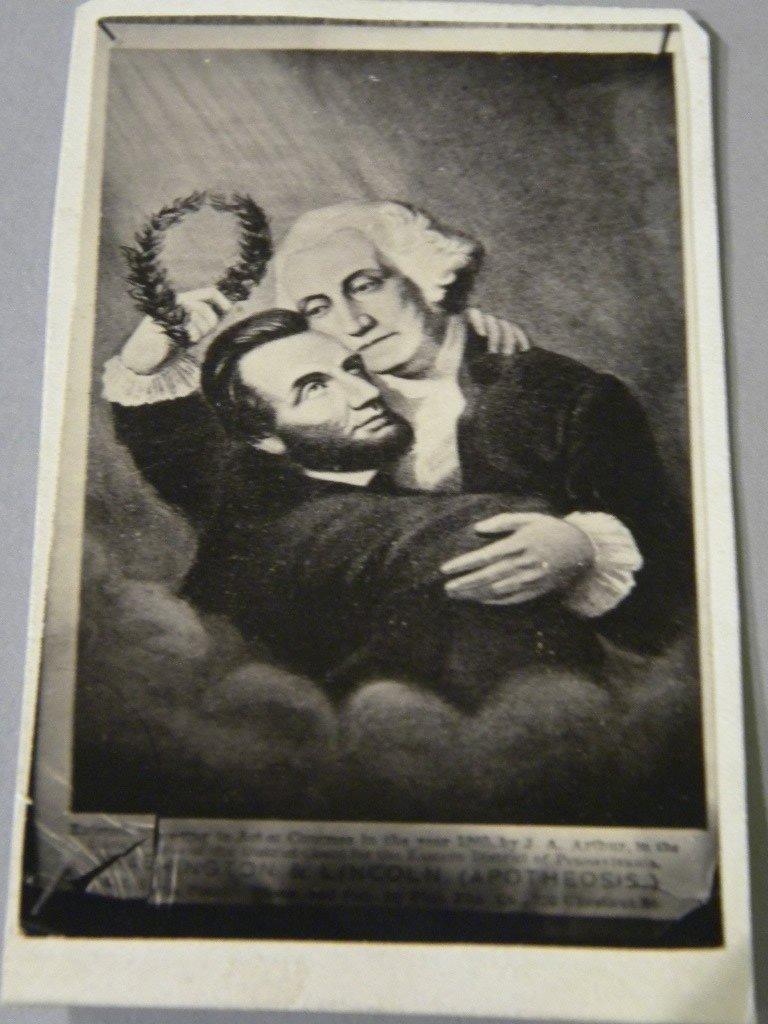 20: Album of CDV's including a  Lincoln/Washington prin