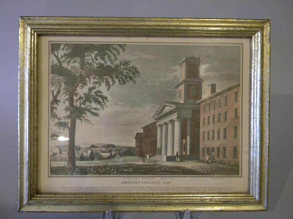 123: lot of 4 late 19th century prints of Yale, Harvard