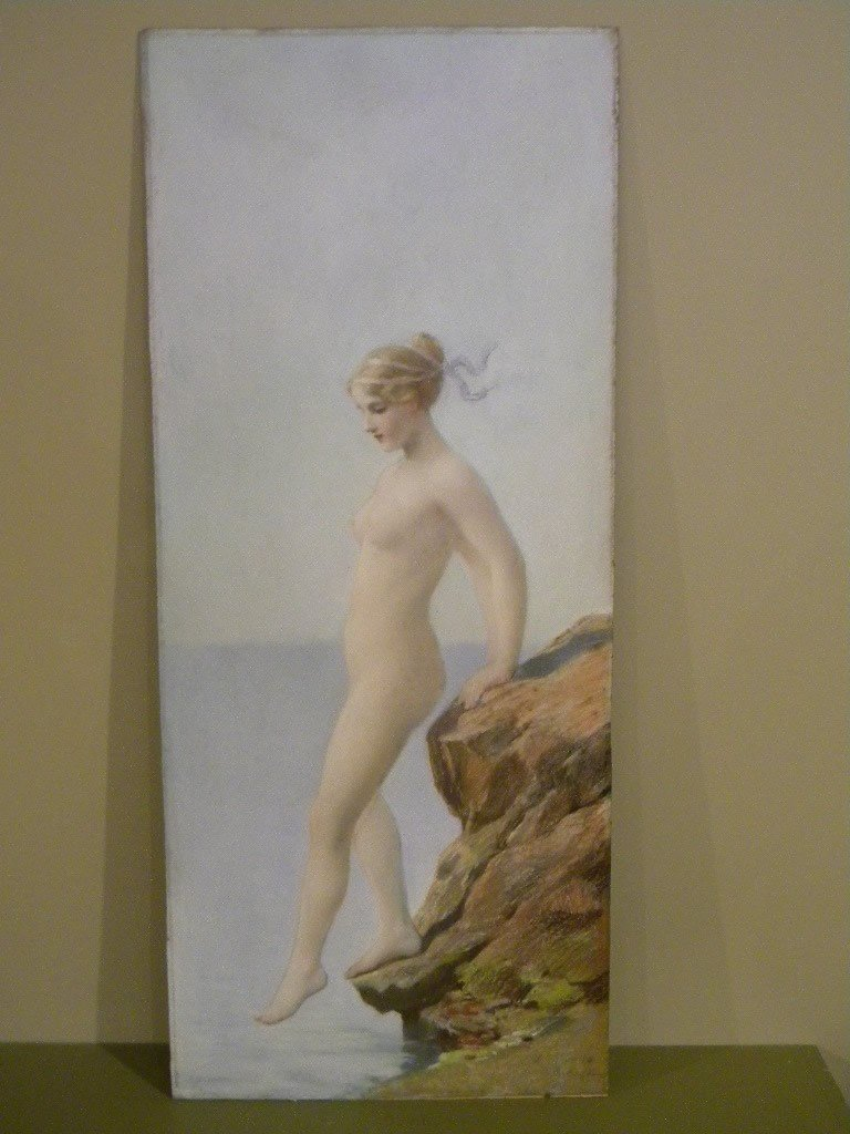 148: James Wells Champney pastel on artist board of a n