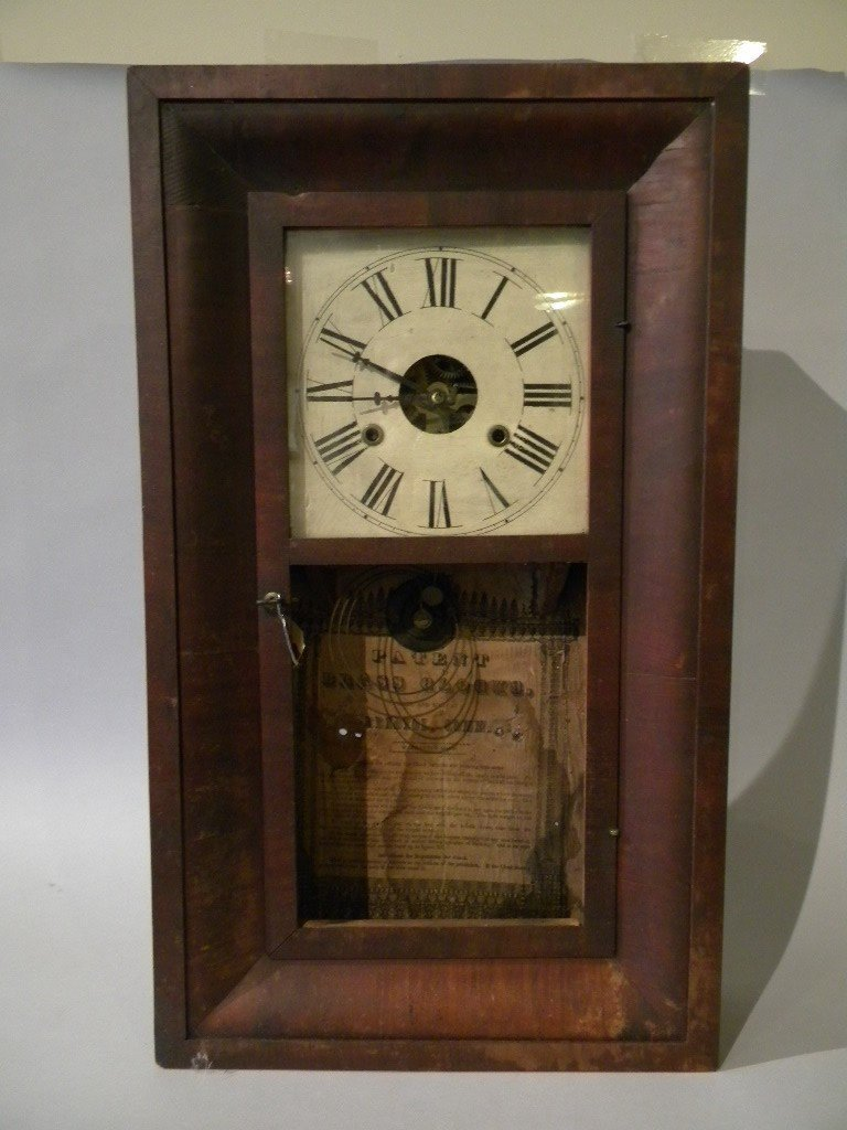184: Weight driven Bristol Ogee clock with ptd wood dia