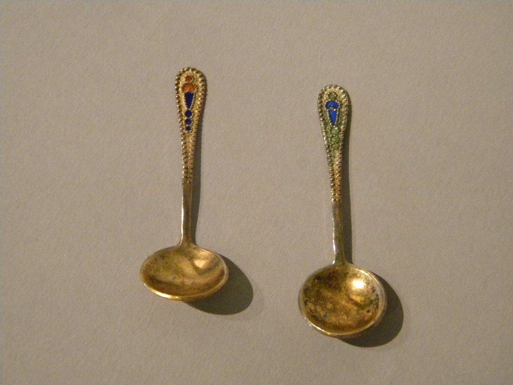 3: Lot of 2 Russian Salt Spoons