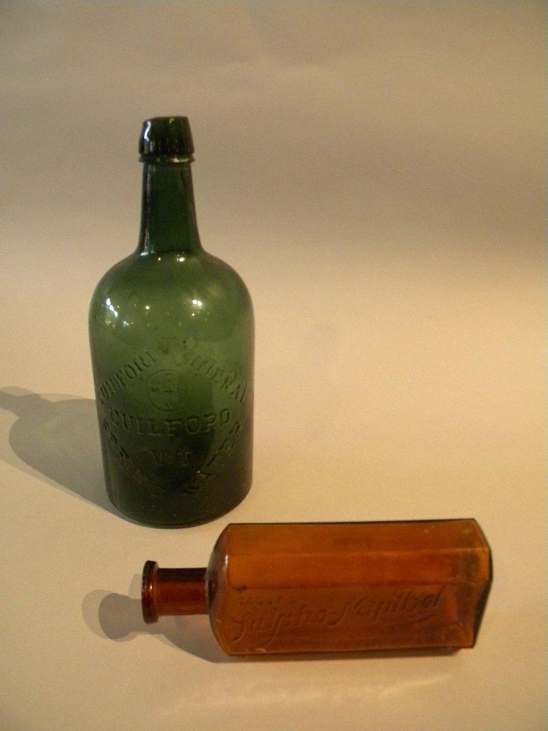8: Guilford VT Mineral Bottle, &  Sulpho Napthol
