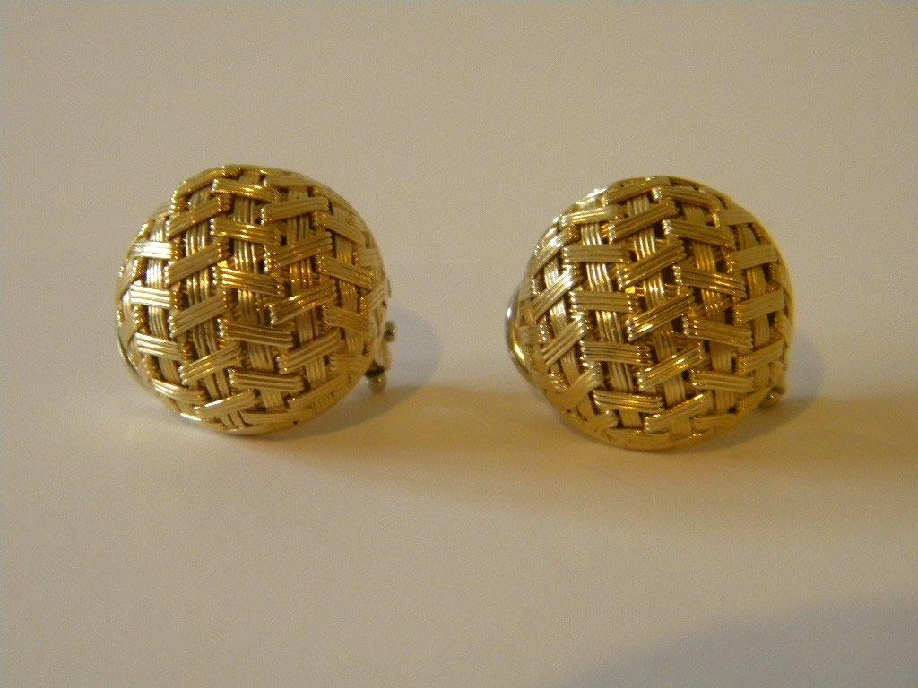 12: Roberto Coin Basket Weave 18 kt Gold Earrings