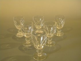 6 Waterford Sherry Glasses