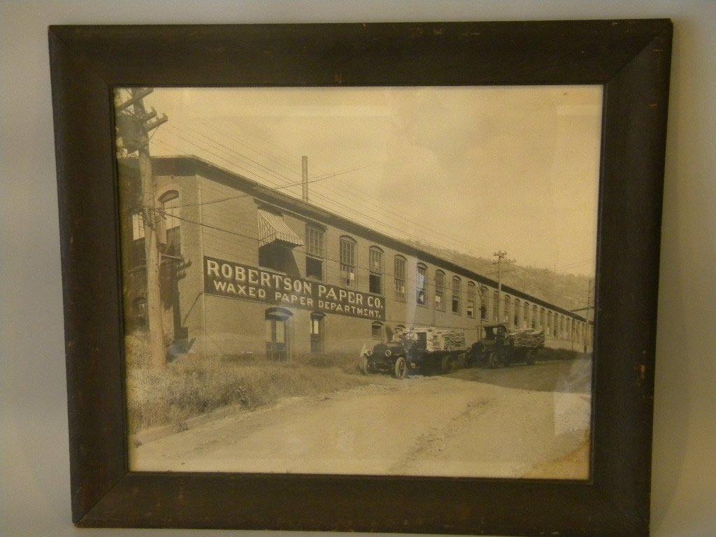 Robertson Paper Mill Photo in Oak Frame