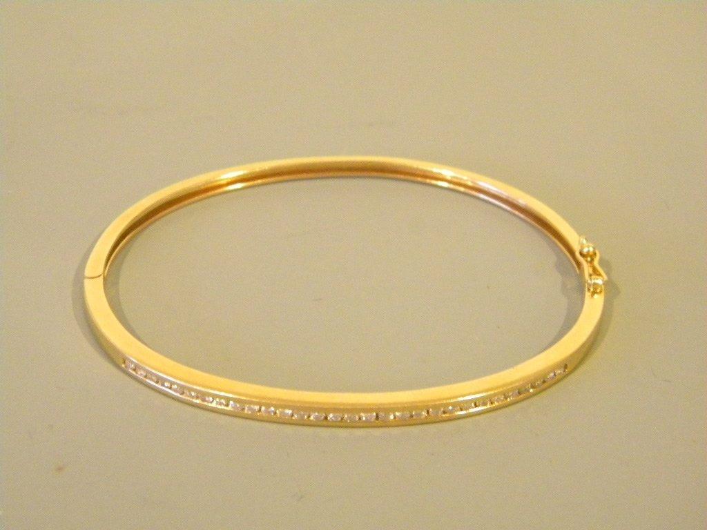 14 kt Gold & Diamond Cuff Bracelet