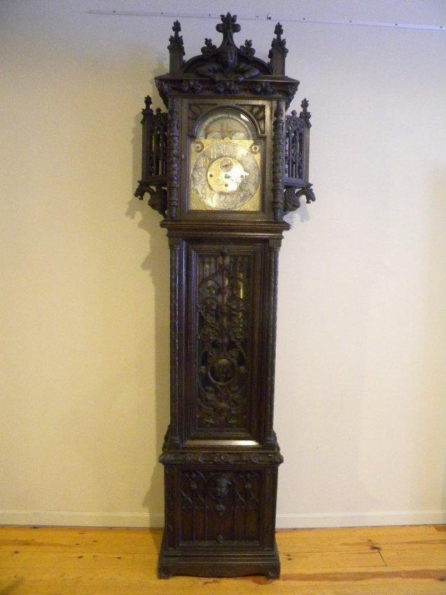 Walter Durfee 9 FT Tall Case Clock